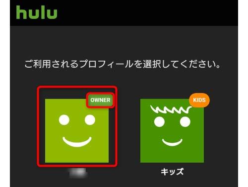 ご利用されるプロフィールを選択してください。の画面にてownerを選択