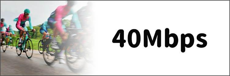 40Mbps